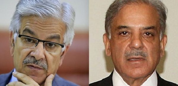 khawaja asif and shehbaz sharif
